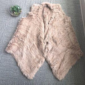 100% Rabbit Fur Vest - Neiman Marcus - Size L 0154